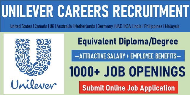Apply For Latest Job Vacancies in UNILEVER