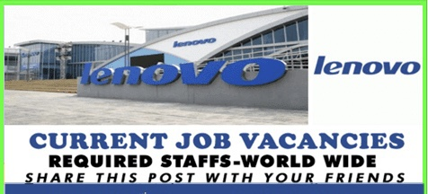 Latest Job Vacancies in Lenovo